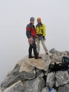 Dave and Chris on the summit of the Grand Teton.