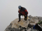 Tebowing on the Grand Teton summit.
